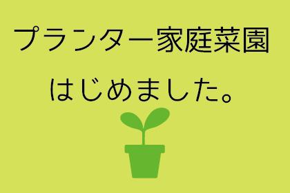 [αź]春はスタートの時期!?「ベランダ家庭菜園」はじめました!